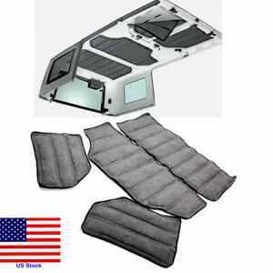 Gray Hardtop Sound Heat Insulation Kit 4 Door For Jeep Wrangler Jk 2011 2018