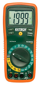Extech Multimeter Digital 8 Function W type K Remote Temp Probe Chn Ex410 z