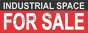 2 x5 Industrial Space For Sale Banner Outdoor Sign Real Estate Warehouse Shop