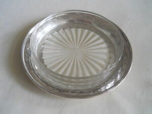 Mappin Sterling Silver Glass Butter Dish