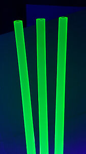 2 Pc 1 2 Od X 1 4 Id X 12 Long Clear Green Fluorescent Acrylic Plexiglass Tube