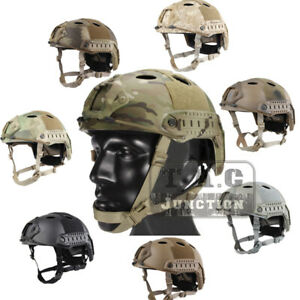 Emerson Tactical Fast Helmet PJ Type Advanced Adjustment wNVG Shroud+Side Rail