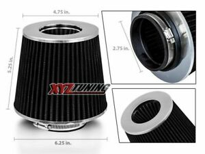 2 75 Black Performance High Flow Cold Air Intake Cone Replacement Dry Filter