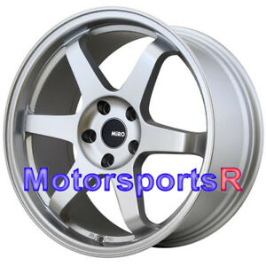 Miro 398 19x8 5 35 Silver Rims Concave Wheels 5x4 5 05 09 11 Ford Mustang V6 Gt