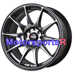 Xxr 527 Chromium Black Wheels 17 X 7 5 40 Rims 4x100 94 98 01 Acura Integra Gsr
