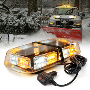 36 Led Strobe Lights Bar Roof Top Security System Emergency Hazard Flash Amber