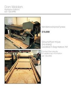 Vandercook Proof Print Press