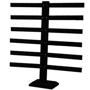 6 Tier 6 Bar Black Earring Display Stand 14 1 8 Wide X 15 1 8 Tall
