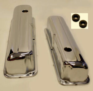 Chrome Steel Valve Covers Ford 352 390 428 1958 1976