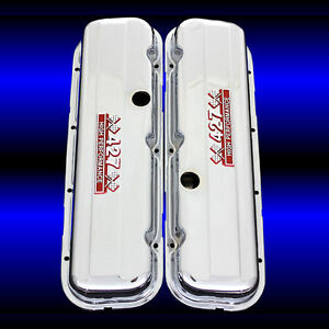 Valve Covers Factory Height Fits Big Block Chevy 427 Engines 427 Emblems Chrome