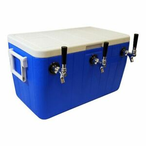 Jockey Box Cooler 3 Faucet 5 16 X 50 Stainless Steel Coils 48qt Draft Beer