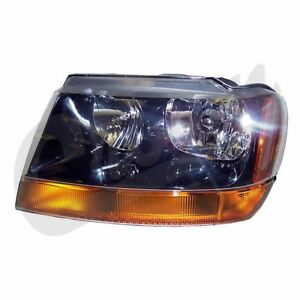 Headlight Left Side Jeep Grand Cherokee Wj 1999 2004 55155129ab Crown