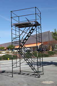 Scaffolding Stairway Case Rolling Tower 5 X 7 X 14 2 Deck High Cbm1290