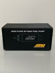 Aem High Flow In tank Fuel Pump E85 Compatible 340lph offset Inlet 50 1200