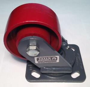 Hamilton S wh 4mb Cast Iron Swivel Plate 4 Caster 1000 lbs new dc3