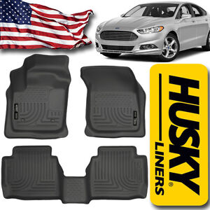 Husky Liners 2013 2016 Ford Fusion Front Rear Floor Mats Black Weatherbeater