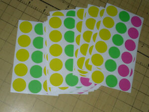 3015 Garage Yard Sale Rummage Stickers Price Label Neon 3 4 see My Other Items