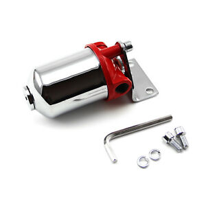Chrome Fuel Filter With Replaceable Element Mounting Bracket 3 8 Npt