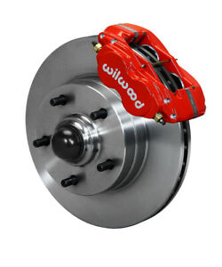 Wilwood Disc Brake Kit Front 64 74 Gm 11 1 Piece Rotors 4 Piston Red Calipers