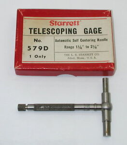 Starrett Telescoping Gage No 579 d In Box