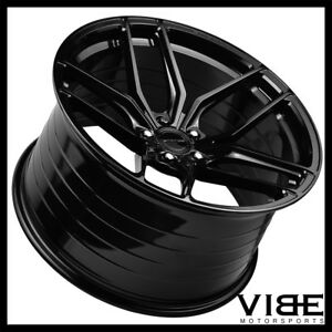 19 20 Stance Sf03 Gloss Black Concave Forged Wheels Rims Fits C6 Z06