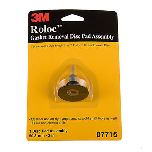3m 07715 Roloc Gasket Removal Disc Pad Assembly 2 Inch