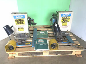 Set Of 2 Amp Crimper Press Wire Terminal Machines 1 453973 2 at