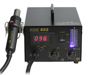 Aoyue 852 Smd Soldering Station 500w 110 220v 100 480 c 23l Hot Air Diaphragm