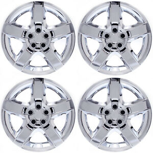 4pc Set Fits 17 Inch Chrome 5 Spoke Hub Cap Rim Steel Wheel Skin Lug Full Cover