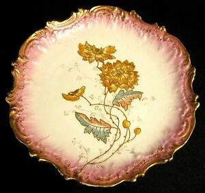 Antique Victorian Ornate Scallop Coiffe Limoges Display Plate Charger 1891 1914