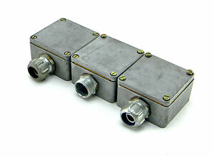3 Weidmuller Waterproof Electrical Junction Boxes With Bk3 Terminal Blocks 10a