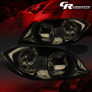 For 05 10 Chevy Cobalt g5 Smoked Housing clear Side Mark park Signal Head Lights