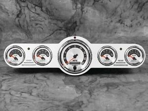 Universal 5 Gauge Billet Aluminum Street Hot Rod Dash Insert Instrument Panel