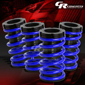 Lowering 1 3 Adjustable Scale Coilover Blue Coil Springs For 01 05 Civic Em2 Es