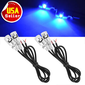 4 X Blue Led License Plate Light Bolt Light 5730 Smd Car Backup Reverse Lamp 12v