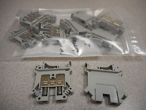 Phoenix Contact Uk10 3005015 Terminal Block Din Rail 20 8awg Gray lot Of 32