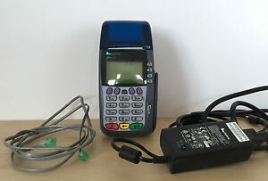 Verifone Omni 3740 Credit Card Terminal Receipt Printer W Accessories
