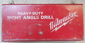 Millwaukee Heavy Duty Right Angle Drill In Metal Case