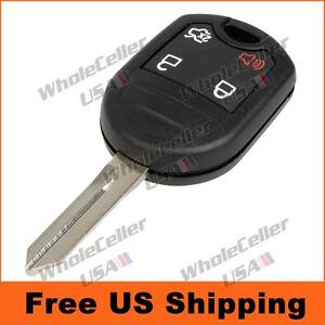 New Uncut Remote Head Ignition Key Keyless Entry Combo Transmitter Fob 4 Btn