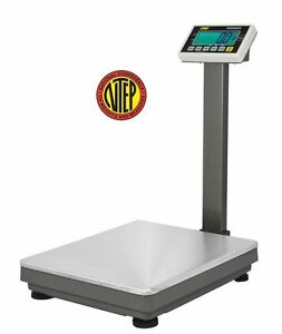 1200 Lbs Bench Platform Digital Scale Ntep Legal For Trade 0 2 Lbs Accuracy