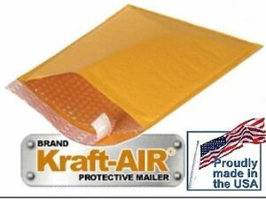 6 Bubble Mailers Kraft Padded Envelopes 12 5 X 18 50 Pieces Made In The Usa