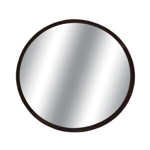 Round 3 75 Blind Spot Convex Mirror W Stick on Mount Black For Car truck