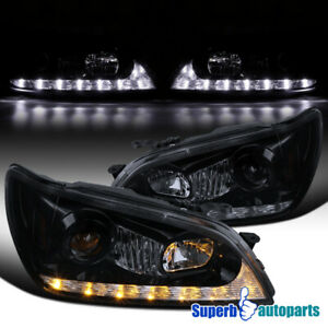 For 01 05 Lexus Is300 Glossy Black Projector Headlights Led Signal Strip