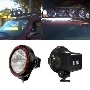 1x Universal 7 Inch Built in Xenon Hid 4x4 Off Road Rally Driving Fog Light Lamp