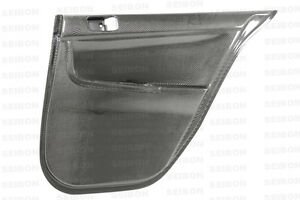 2008 2012 Mitsubishi Lancer Evo X Carbon Fiber Door Panels Rear Dp0809mitevox r