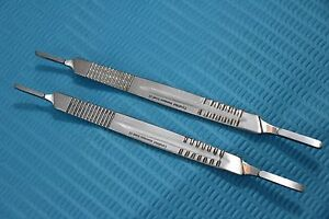 New 2 Surgical Scalpel Blade Handle Holder 3 4 Two In One Fits On All Blade