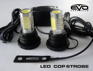 Evo Formance Universal Led Cop Strobe Light Headlight Kit Red For Car Truck