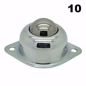 Ten 10 1 Inch Flange Mount Conveyor Roller Ball Transfer Bearings