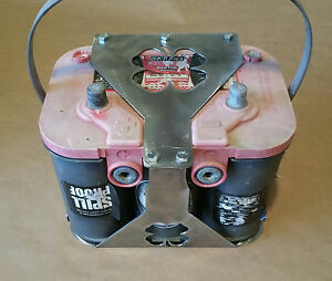 Clover Optima 34 76 Battery Box Mount Yellow Red Top Custom Offroad Luck Lucky
