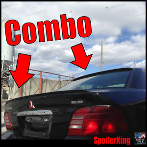 Combo Spoilers Fits Mitsubishi Galant 1999 03 Rear Roof Wing